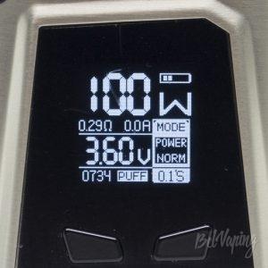 Главный экран IJOY CAPO 100