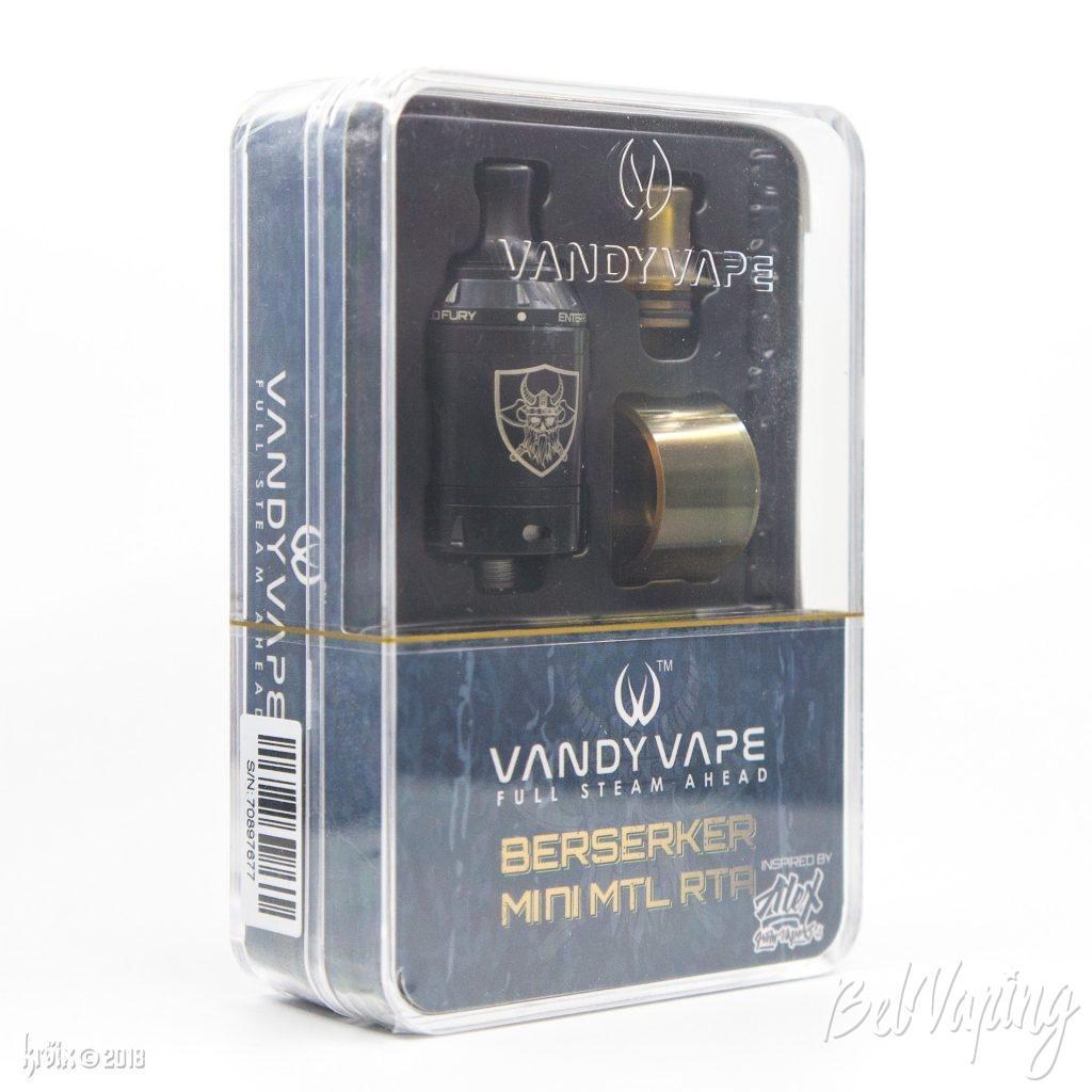 Упаковка Berserker Mini MTL RTA от Vandy Vape