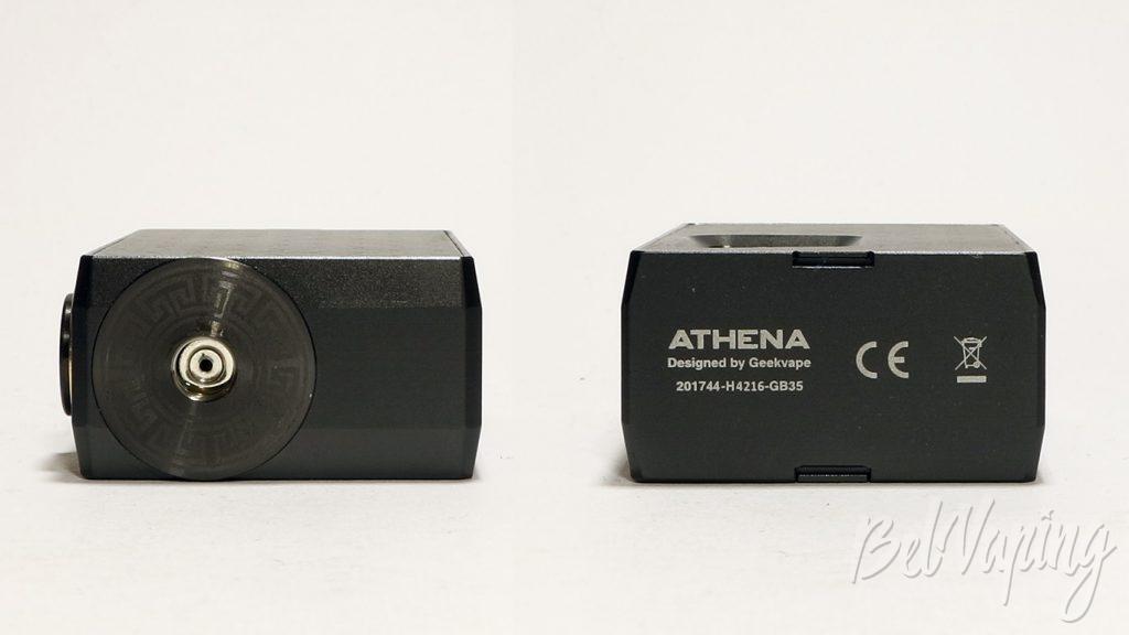 Geekvape Athena squonk kit - коннектор и серийный номер
