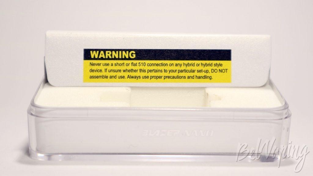 SENSE Blazer Nano by Cigret - предупреждения