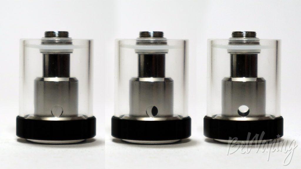 Vaptio C-II TANK - регулировка подачи жидкости