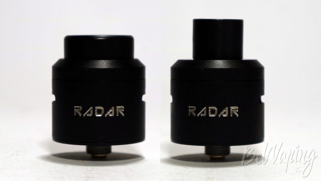GEEK VAPE RADAR RDA - внешний вид с разными дриптипами