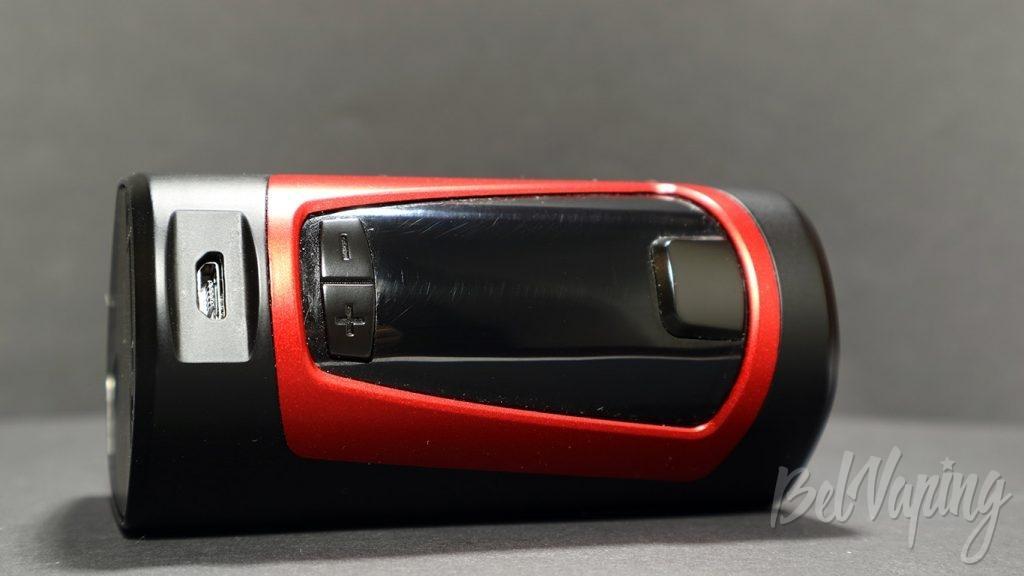 GEEK VAPE GBOX MOD - гнездо зарядки и кнопки управления