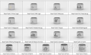 Металлические колбы с гравировками для Kayfun Prime