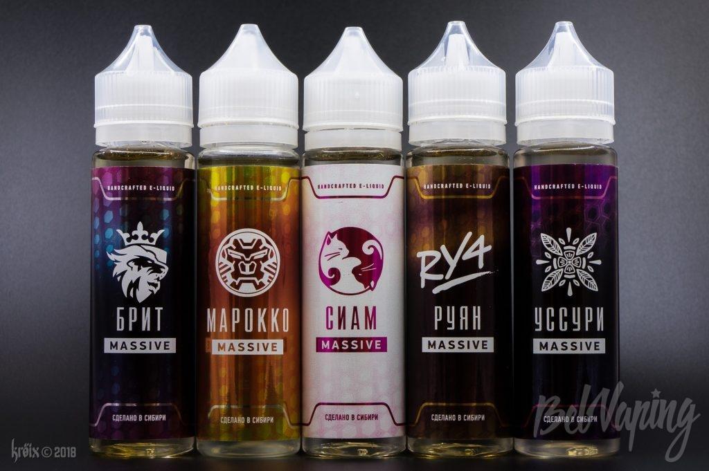 Новые вкусы жидкостей Massive от BlackBox Liquids