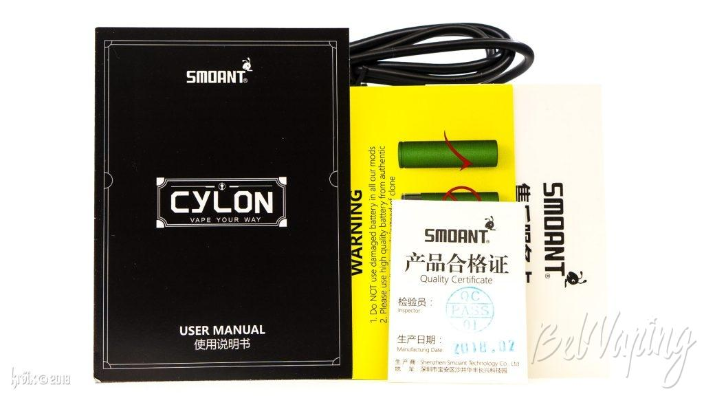 Комплектация Smoant Cylon 218W