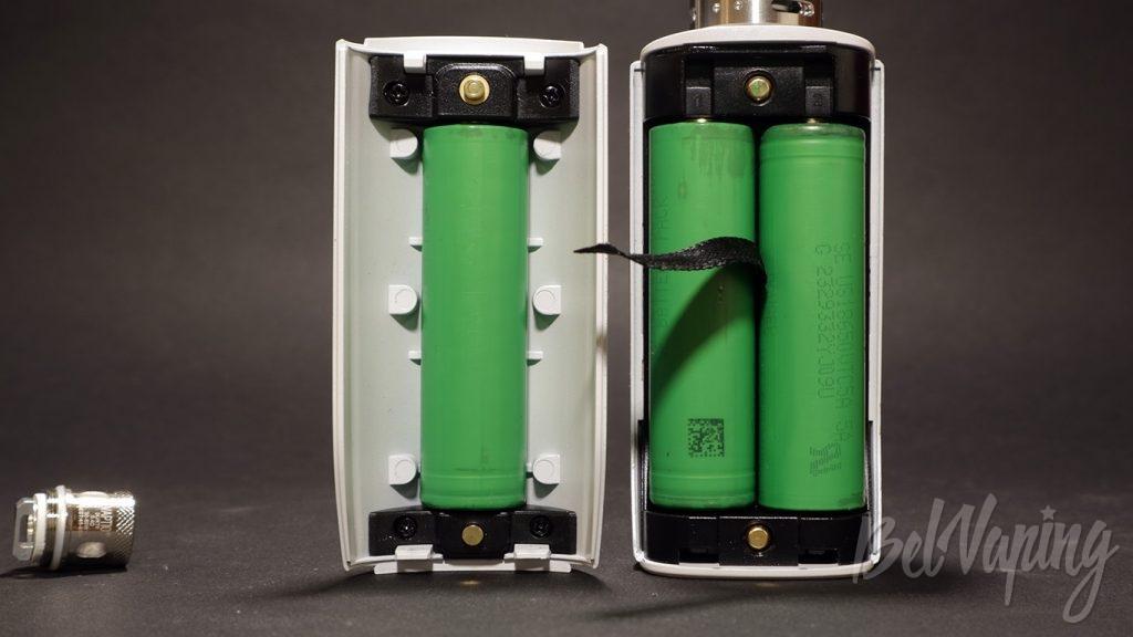 Vaptio N1 PRO 240W - установка аккумуляторов