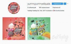 Скриншот аккаунта Instagram yummyyummyeliquids