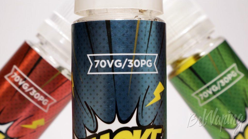 Жидкости SMOKE BOMB! - соотношение VG/PG