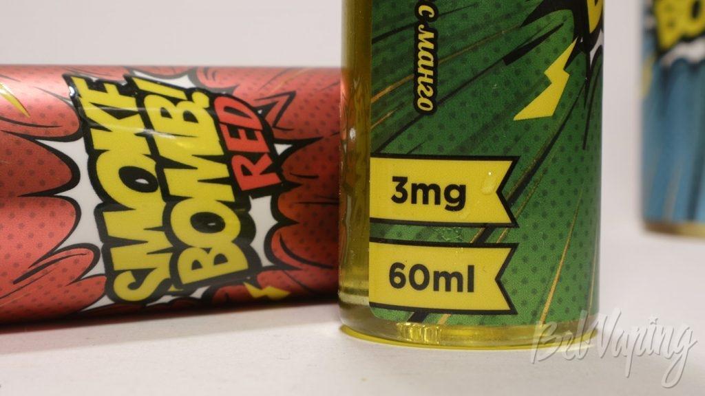 Жидкости SMOKE BOMB! - содержание никотина и объём
