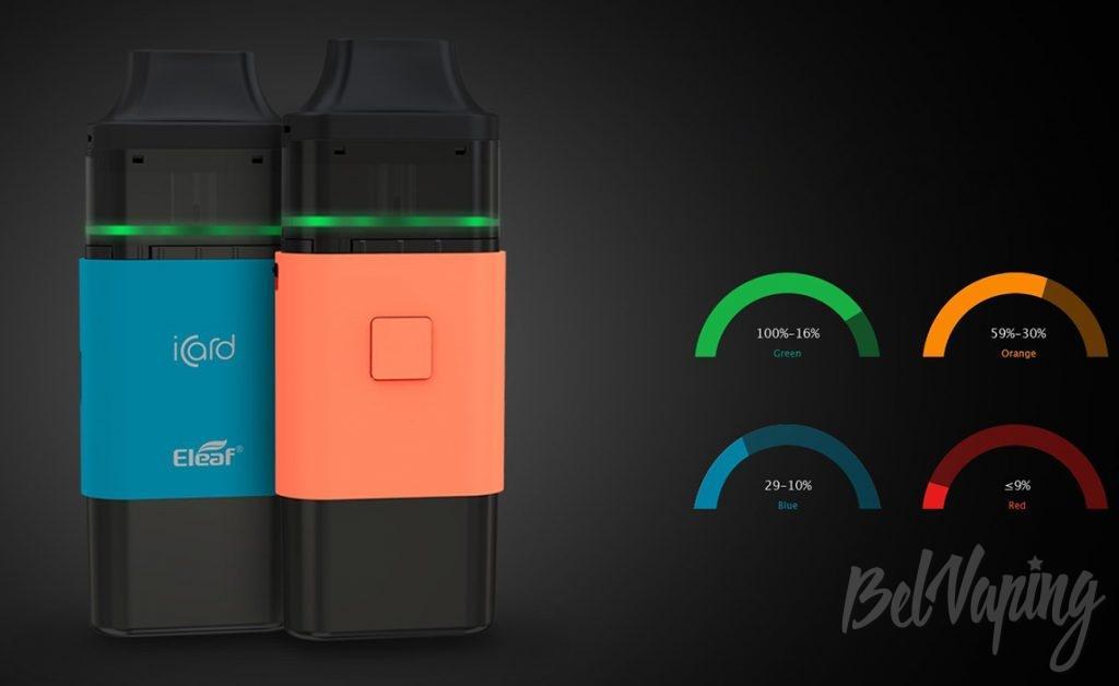 Заряд аккумулятора Eleaf iCard Starter Kit