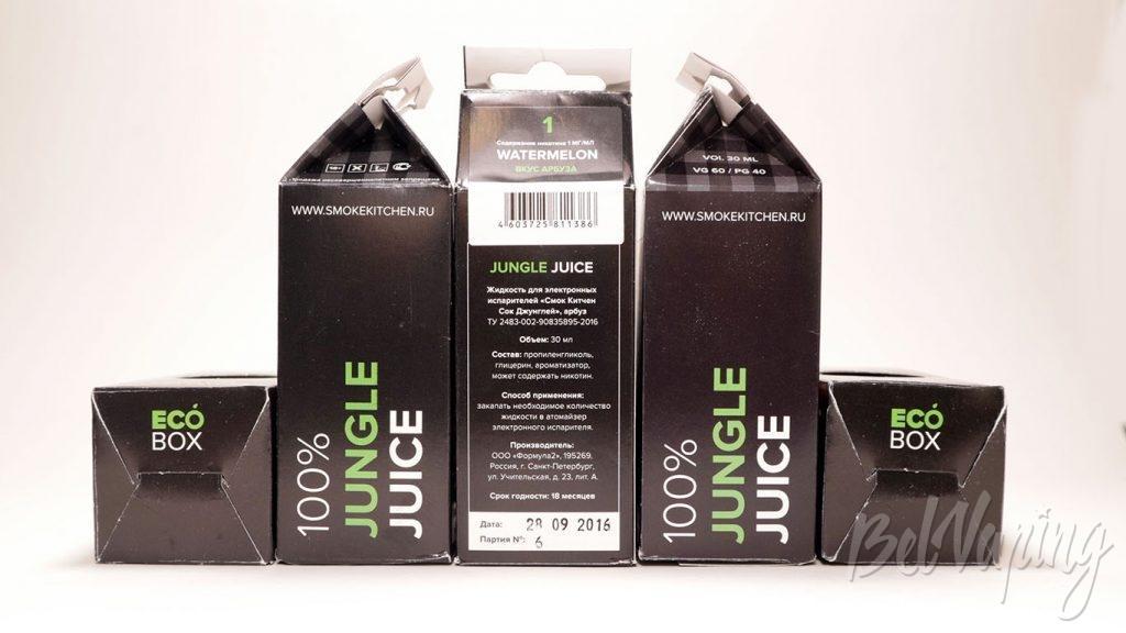 Жидкости Jungle Juice от Smoke Kitchen - упаковка