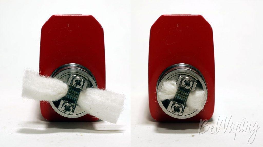 Vandy Vape BERSERKER MTL RDA - укладка хлопка