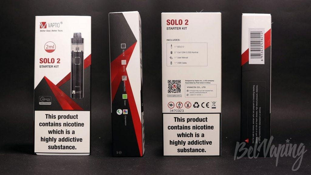 Vaptio SOLO 2 - упаковка