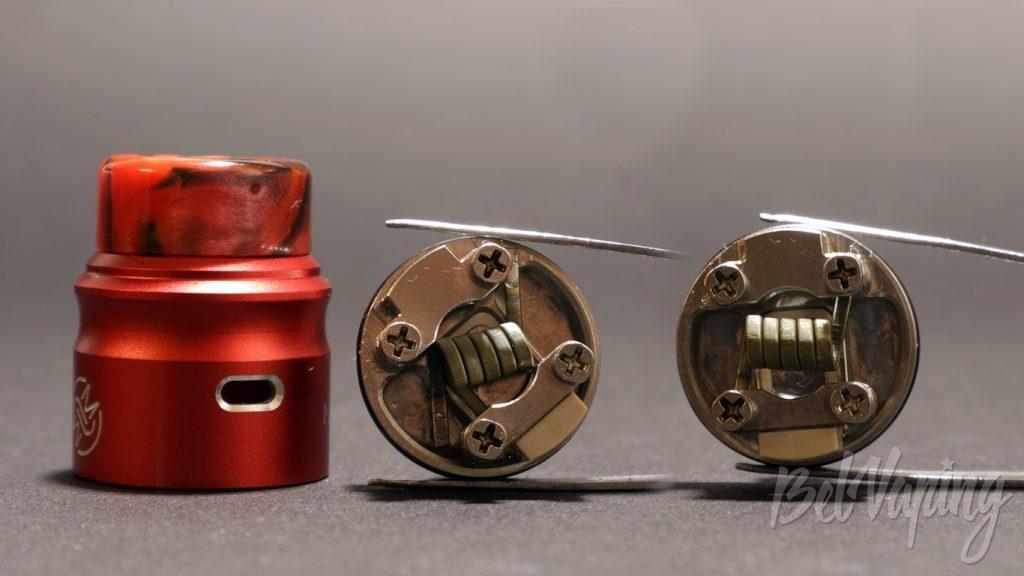 Wotofo NUDGE RDA 22mm - установка койла