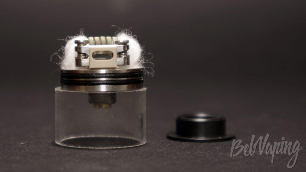 Wotofo NUDGE RDA 22mm - укладка хлопка и обдув