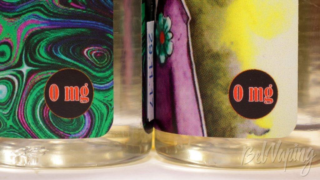 Жидкости SENSES - содержание никотина