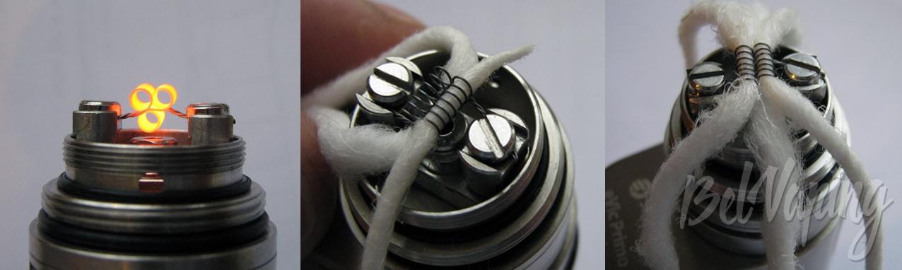Прожиг спиралей и укладка ваты