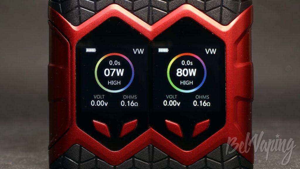 Vaptio WALL CRAWLER KIT - минимальная и максимальная мощность