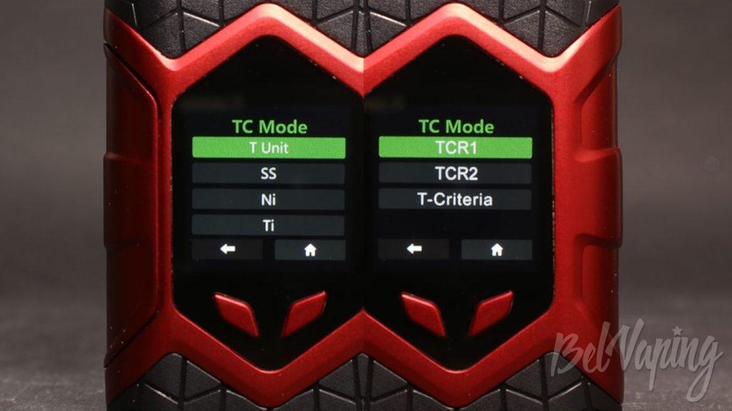 Vaptio WALL CRAWLER KIT - выбор режима термоконтроля