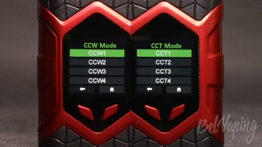 Vaptio WALL CRAWLER KIT - выбор режима пресетов