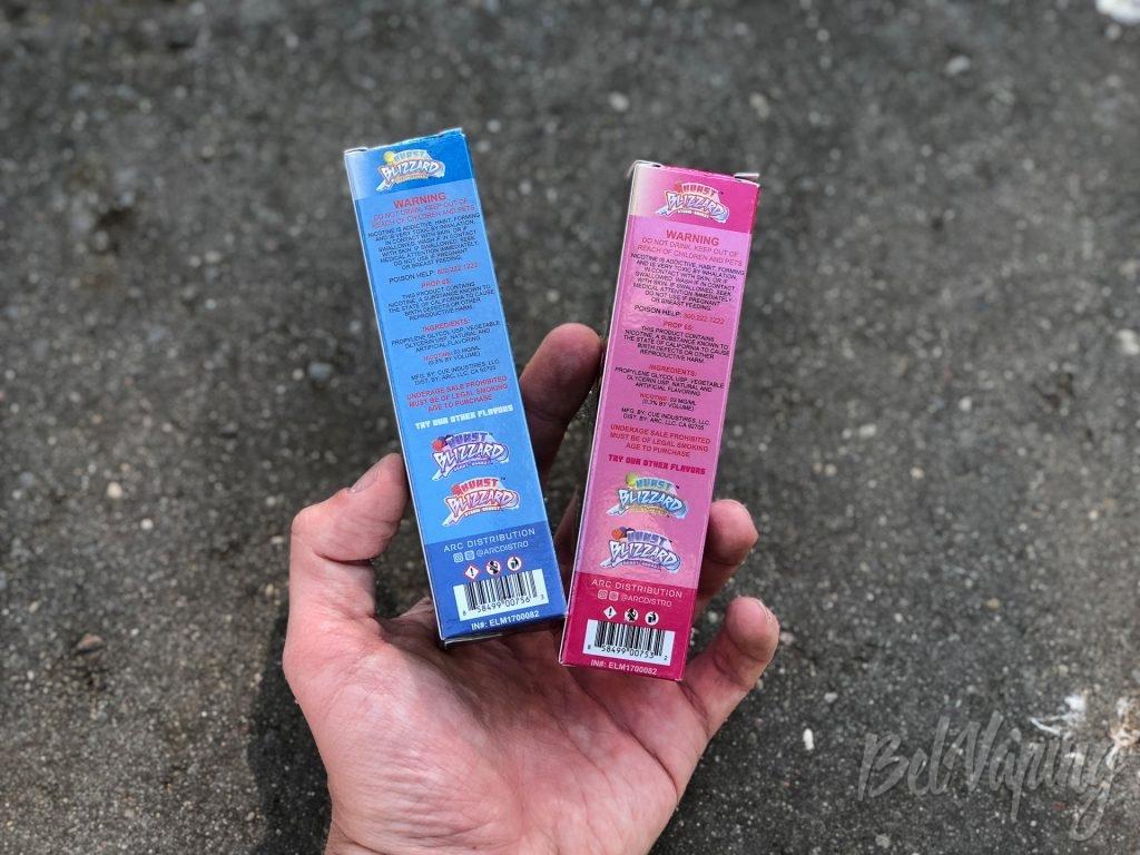 Упаковка жидкости Burst Blizzard