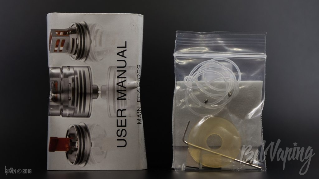 Комплект поставки Nicotine Reinforcer RDA от NCR