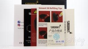 Инструкции из комплекта Smoant S8 POD