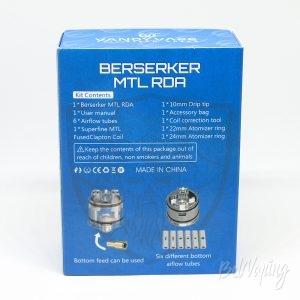Упаковка Vandy Vape & Alex VapersMD Berserker MTL RDA