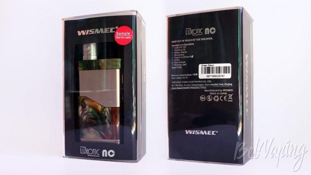 Wismec LUXOTIC NC и GUILLOTINE V2 RDA - упаковка
