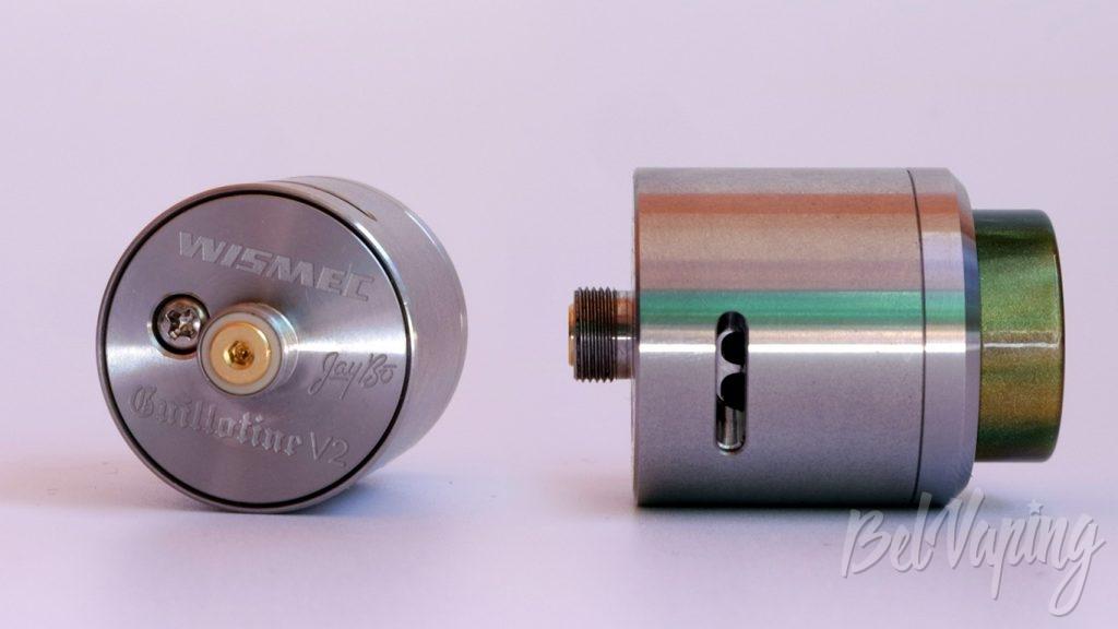 Wismec GUILLOTINE V2 RDA - коннектор и вид снизу