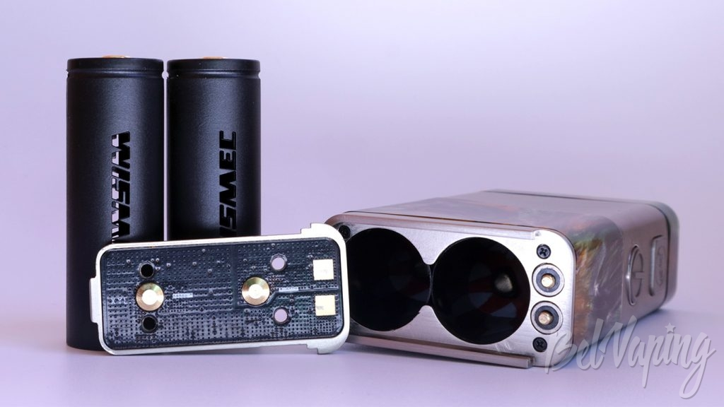 Wismec LUXOTIC NC - крышка батарейного отсека и переходники 20700-18650