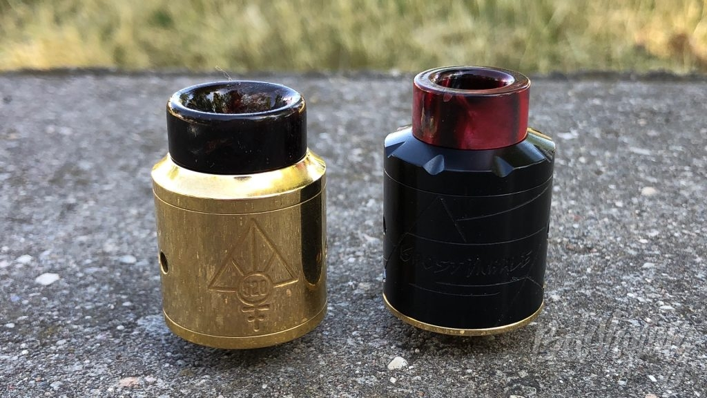 Сравнение Goon RDA (слева) и Avidvape Ghost Inhale RDA