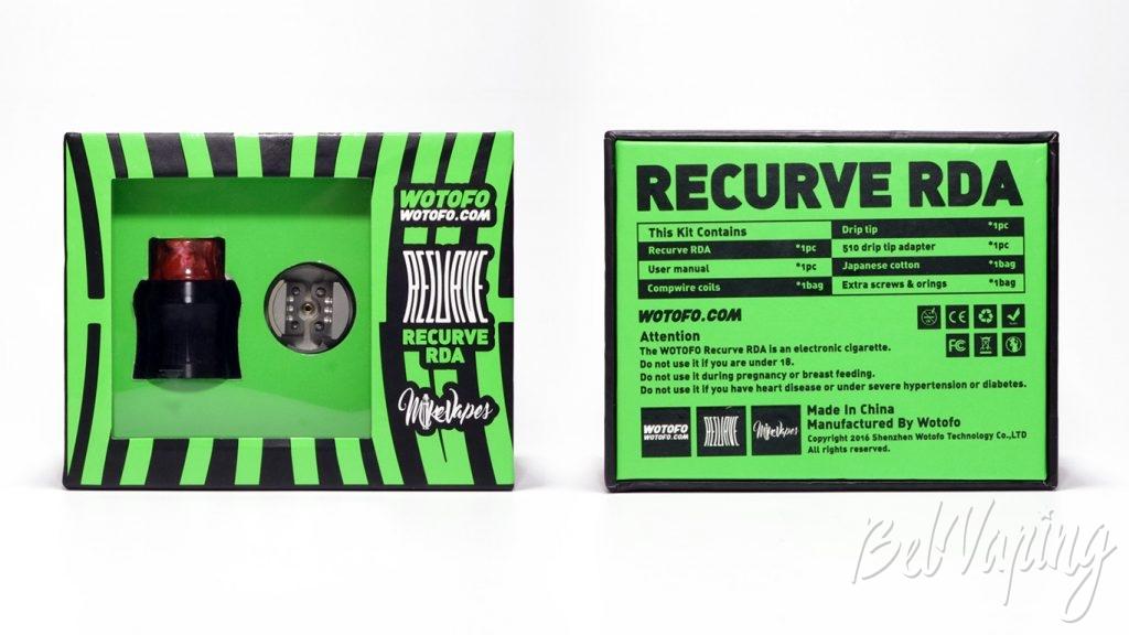 Wotofo RECURVE RDA - упаковка