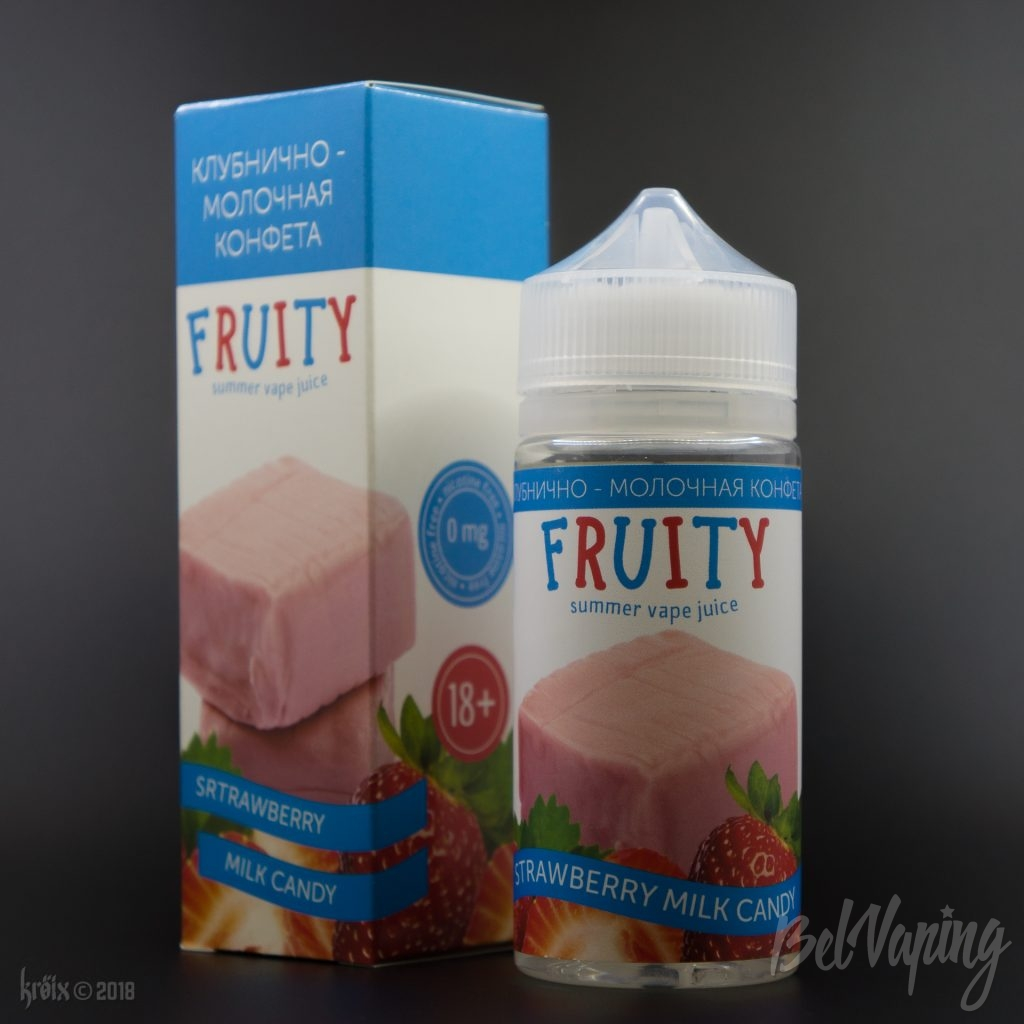 Жидкость Fruity Strawberry Milk Candy (Fruit-Tella)