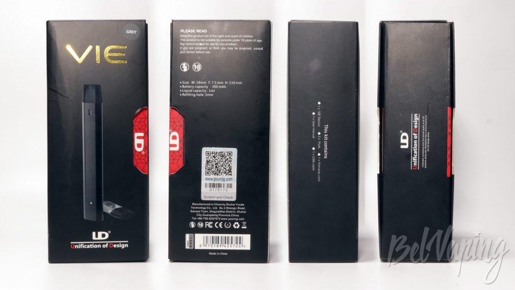 POD система UD VIE - упаковка