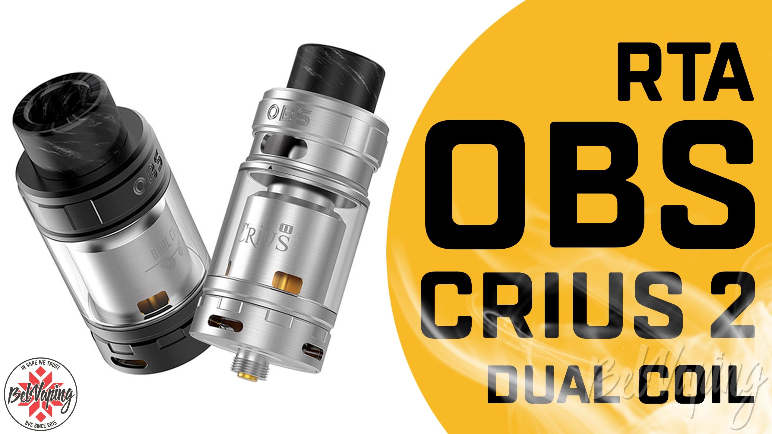 Видеообзор бака OBS Crius 2 RTA Dual Coil