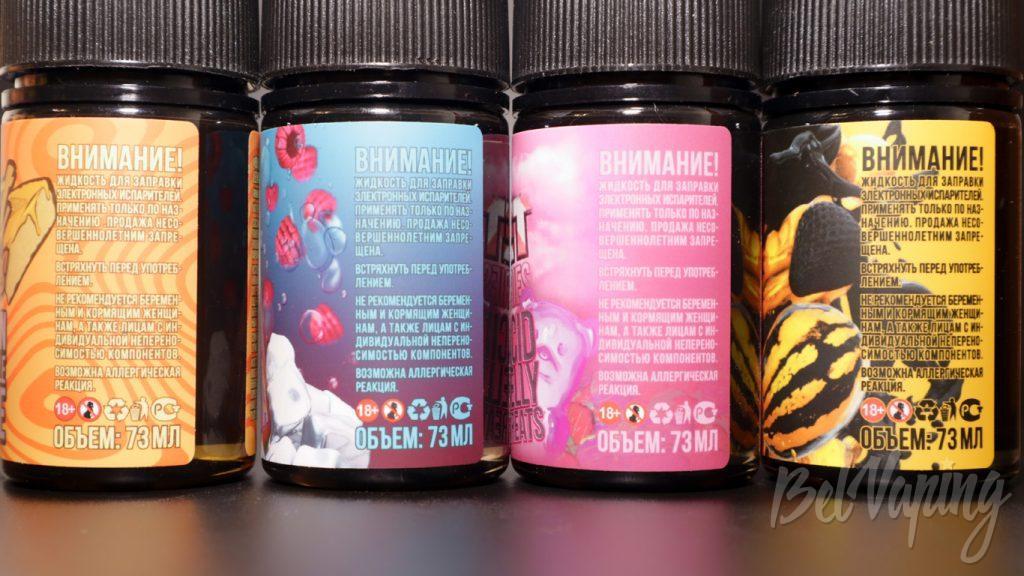 Жидкости Bill's e-liquid - информация на этикетке