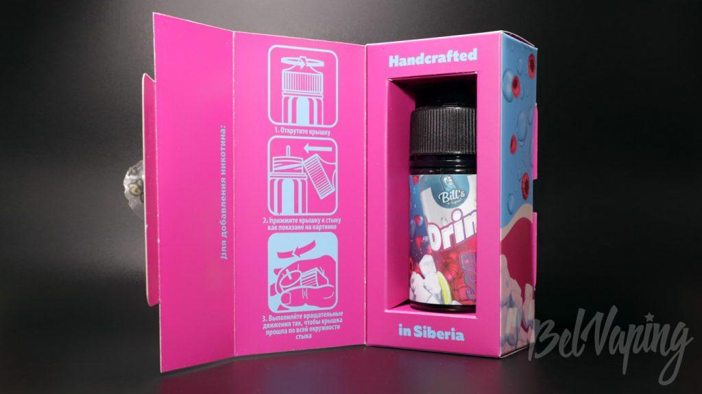 Жидкости Bill's e-liquid - упаковка