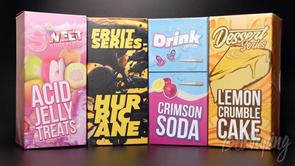 Жидкости Bill's e-liquid - коробки