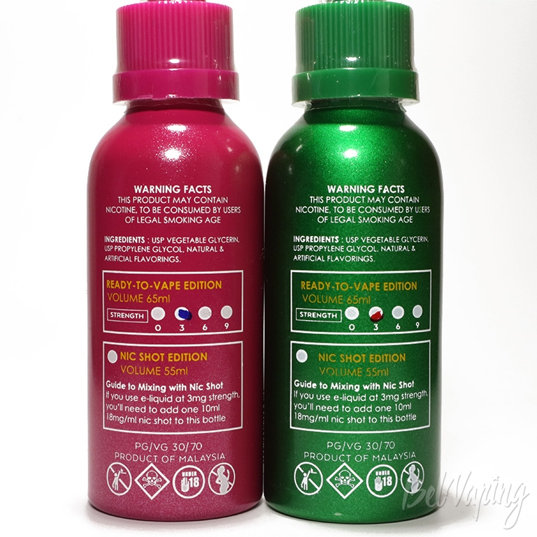 Жидкости Fantasi Mix - информация на флаконе