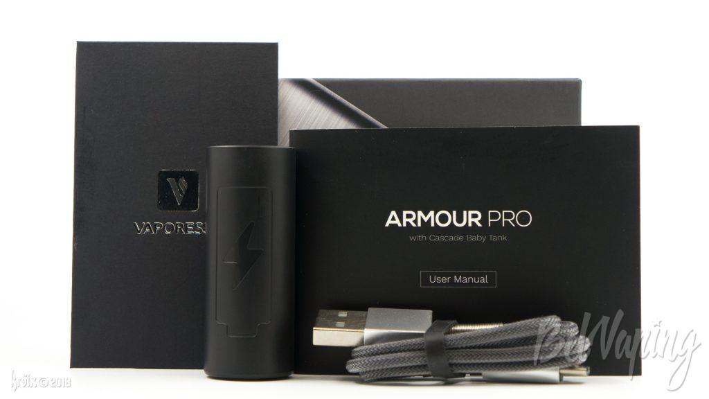 Комплектация Armour PRO от Vaporesso