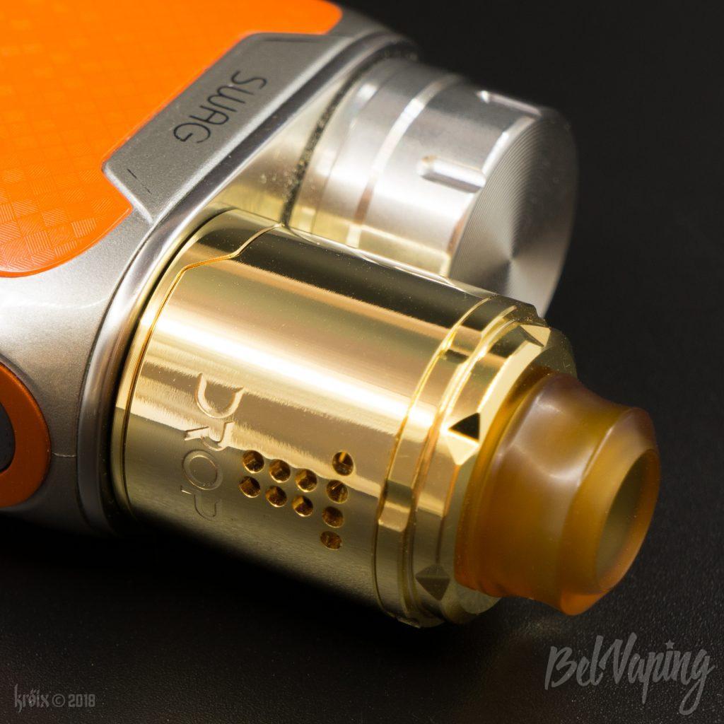 Drop Solo RDA с кольцом-адаптером на Vaporesso SWAG