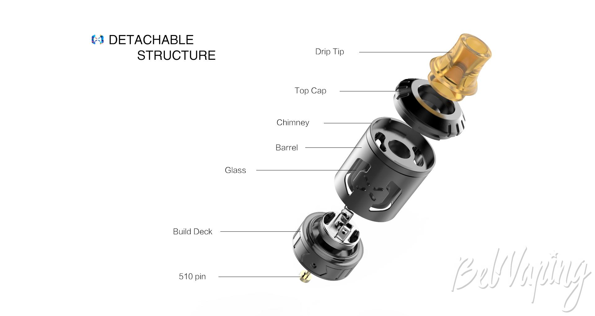 Конструктив Hugsvape Chalice MTL RTA