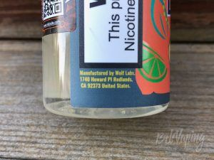 Этикетка жидкости Lemon Aid