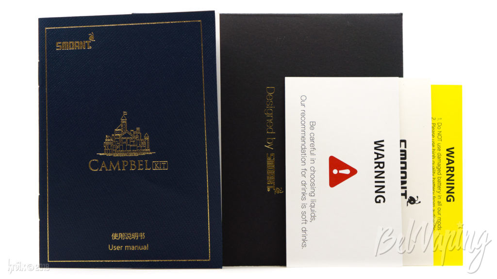 Набор документации к Smoant Cambel Kit