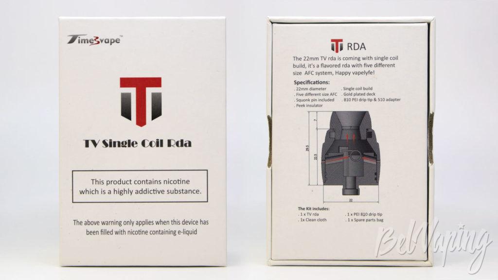 Timesvape TV Single coil RDA - упаковка