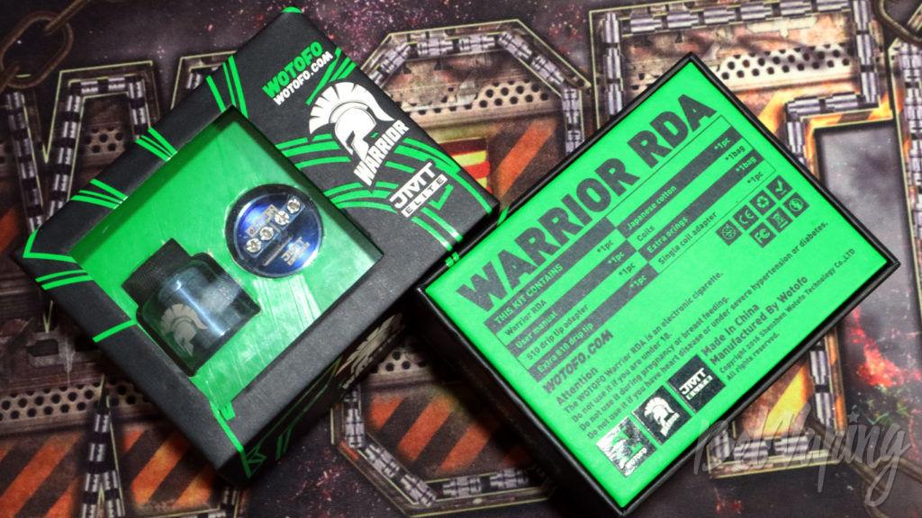 Wotofo WARRIOR RDA - упаковка