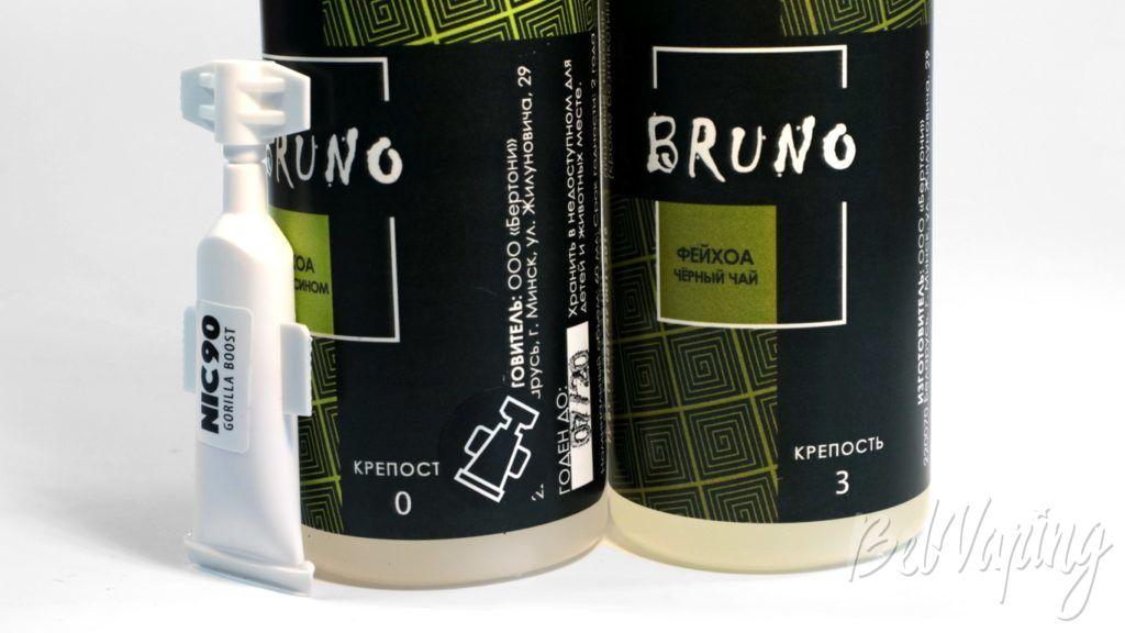 Жидкости BRUNO - содержание никотина