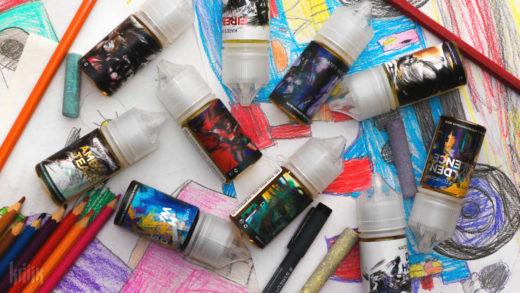 Обзор жидкости Kate's Graphics и Kate's Sketchbook на солевом никотине
